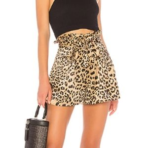 revolve leopard shorts